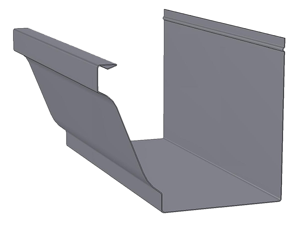 6-inch commercial gutter